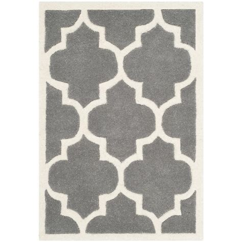 Pantofel Grey Ivory 2 safavieh chatham grey ivory 2 ft x 3 ft area rug cht733d 2 the home depot