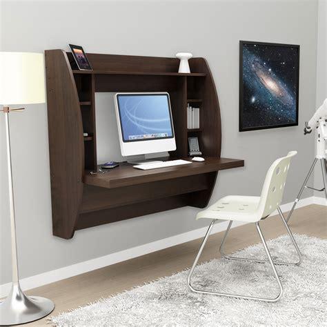 Floating Desk With Storage by Espresso Floating Desk With Storage