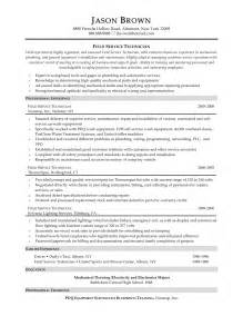 Maintenance Technician Resume by Library Technician Resume Objective Field Automotive