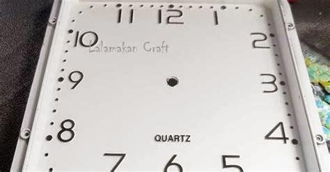 creativity tutorial membuat scrapbook  jam dinding
