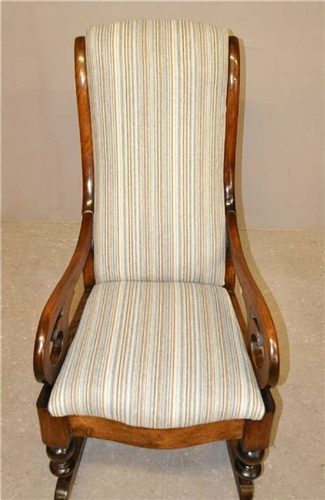 padded rocking chair uk upholstered rocking chair 167048 sellingantiques co uk