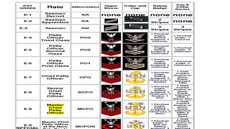 navy seal rating navy rank structure officer enlisted info