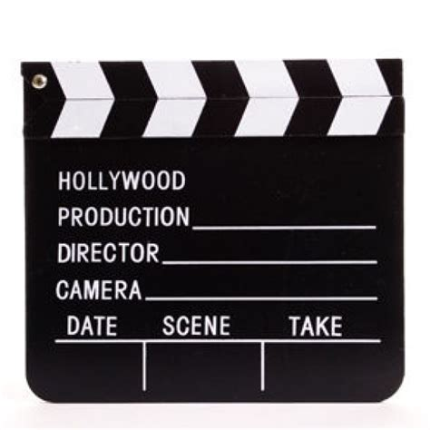film slate emoji klapbord hollywood film