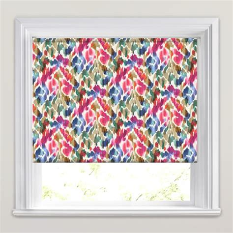 colourful roller blind bathroom funky colourful vibrant multi coloured patterned