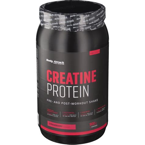 creatine or protein attack creapure 174 creatine protein erdbeere shop