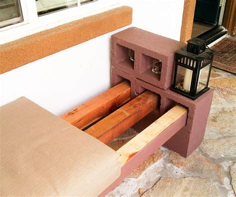 block bench easy diy cinder block bench quiet corner