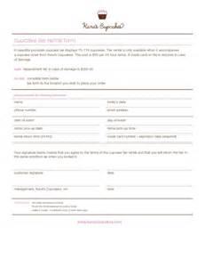 cupcake invoice template cake order contract cupcake tier rental form pdf pdf