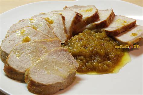 cucinare arista di maiale arista di maiale con salsa di mele il secondo delle feste