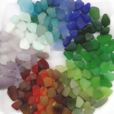 what does colored glasses the colors of sea glass where do they come from