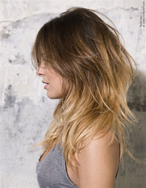 hair styles for light hair casual long hairstyle with layers light blonde tips and a