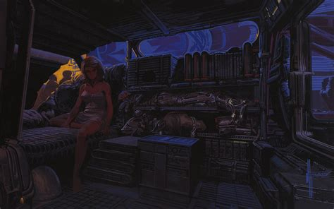Cyberpunk Home Decor oncept art for blade runner by syd mead 1982 blog