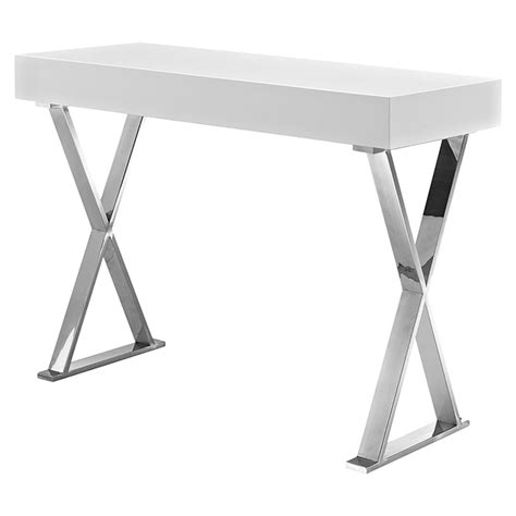 X Leg Console Table Sector Rectangular Console Table X Legs White Dcg Stores