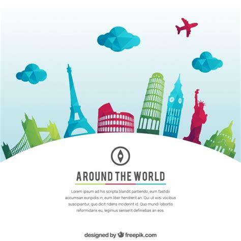 Around The World For Free around the world background vector free