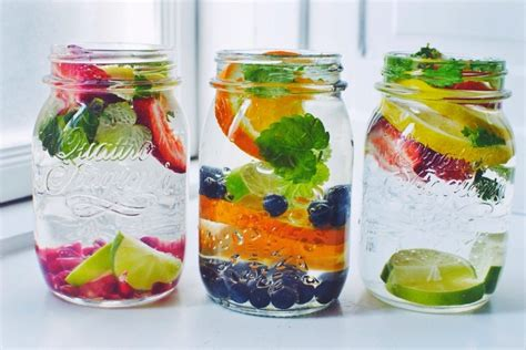 Detox Waters Ising Blueberries Strawberries And Lemon by A Million Fruit Infused Water