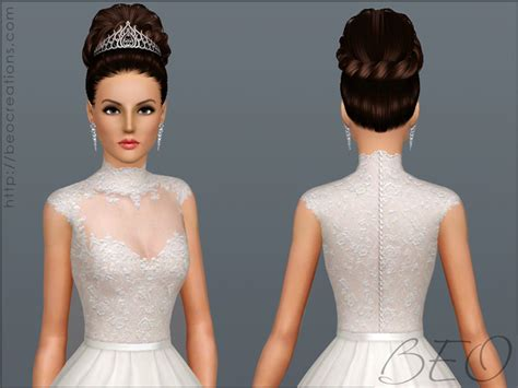 Sims 3 Cc Wedding Hair   wedding dress 27 by beo sims 3 downloads cc caboodle