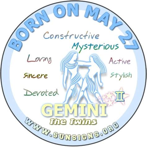 may 27 zodiac horoscope birthday personality sun signs