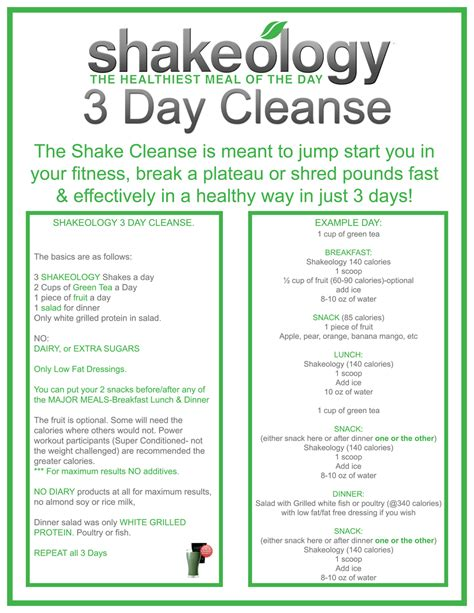 Best 2 3 Day Detox by Shakeology 3 Day Cleanse Ready Now