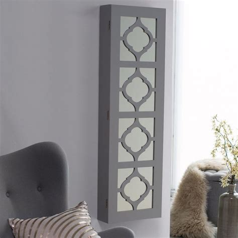locking wall mount jewelry armoire have to have it belham living lighted locking quatrefoil