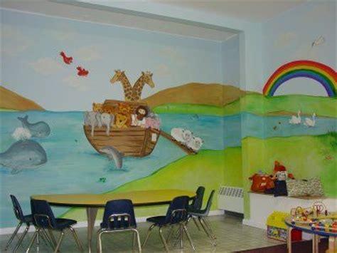 Church Nursery Decorating Ideas Church Nursery Mural Ideas Nursery Murals And More Childrens Ministry Pinterest Half