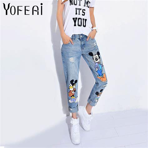 Ankle Length Khakis By Gap Boyfriend yofeai 2017 casual denim ankle length boyfriend print casual harem