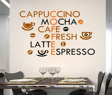 kitchen stickers wall decor coffee shop wall decals kitchen wall stickers coffee