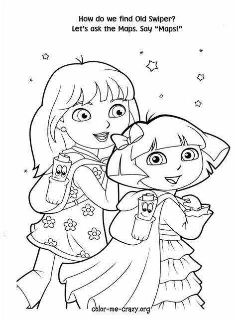 princess dora coloring pages az coloring pages