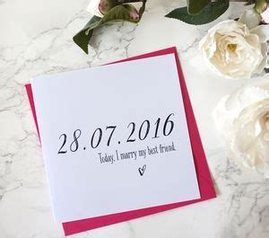 Personalised Wedding Day Cards   notonthehighstreet.com