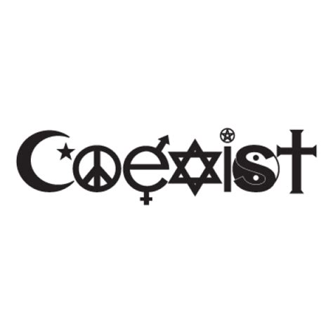 coexist vector 1 free coexist graphics download