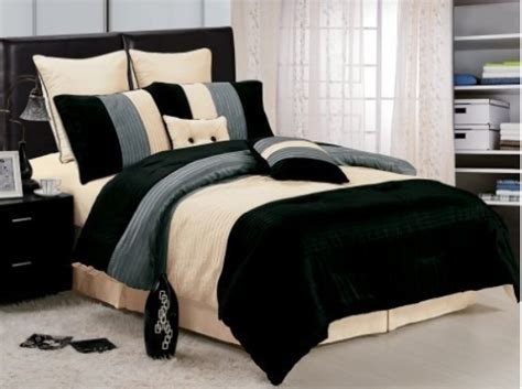 black and beige comforter set stripe home furniture stock