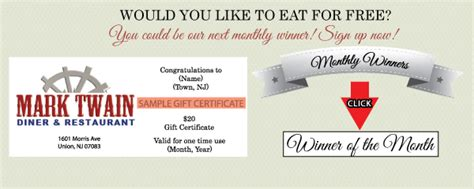 web design certificate new jersey mark twain diner restaurant promotions union new jersey