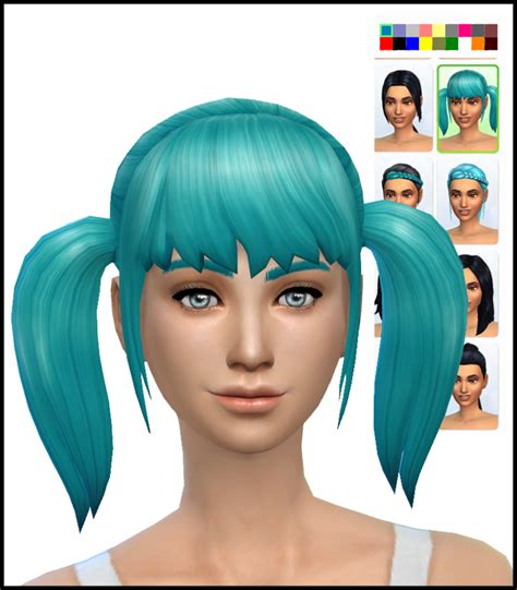 pigtails hair sims 4 new pigtails hair mesh simista a little sims 4 site