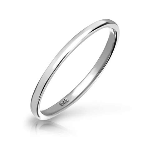 silver ring band sterling silver wedding band thumb toe