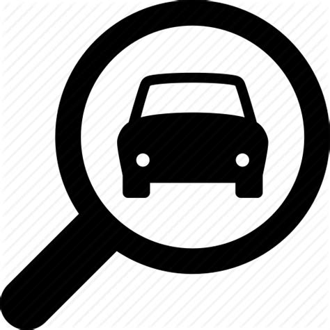 Vehicle Search Autos Car Glass Look Magnifying Search Icon Icon Search Engine