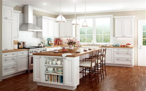 White Kitchen with Island   Traditional   Kitchen