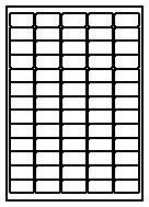 Word Vorlage Etiketten 70 X 36 Mm Labelmedia Standard Etiketten Rollenware Bogenware Leporello