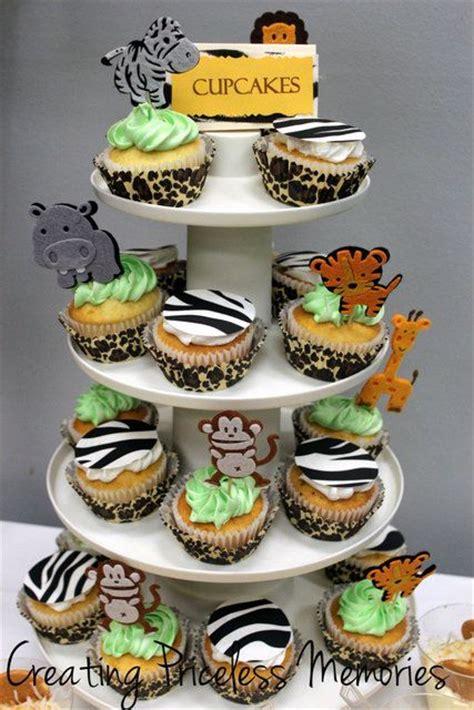 cupcake themed baby shower decorations safari jungle theme baby shower ideas