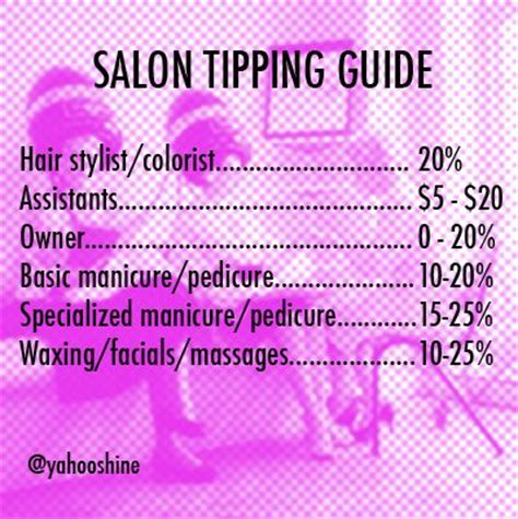 How Much Should You Tip A Hair Dresser by Salon Tipping Guide Bar