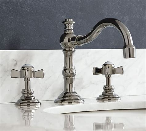 langford cross handle widespread bathroom faucet pottery