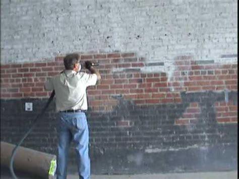 removing paint from bricks exterior basement cellar tanking walls using waterproof membrane