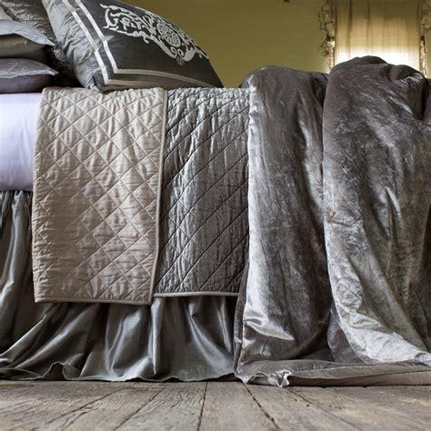 velvet coverlets quilts lili alessandra chloe velvet silver coverlet modern