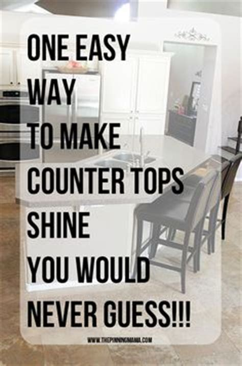 How To Make Laminate Countertops Shine by You Won T Believe What She Uses To Clean Granite