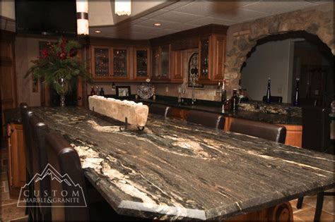 Black Granite Kitchen Table Black Granite Table Tuscan Kitchen Mediterranean Kitchen Other Metro By Custom Marble
