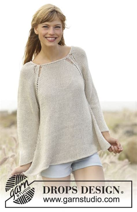 free knitting pattern raglan jumper everyday comfort knitted drops jumper worked top down