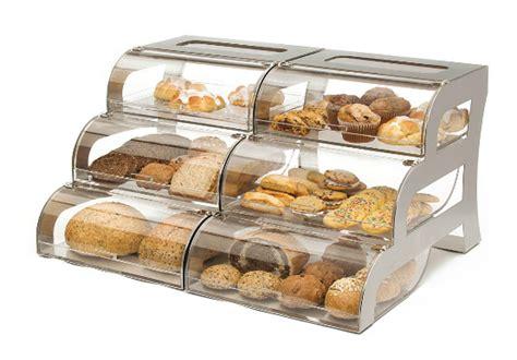Countertop Bakery by Large Bakery Display Three Tiered Bakery Bagel Bins