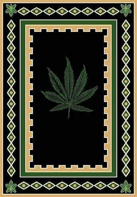 marijuana rug pot rug with border marijuana rug pot rug
