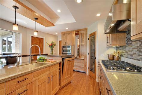 birch kitchen cabinets kitchen red birch cabinets quartz live wood edge countertops kitchens newhairstylesformen