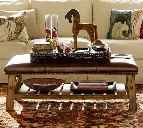 caden leather rectangular ottoman pin by janna moes on for the home pinterest