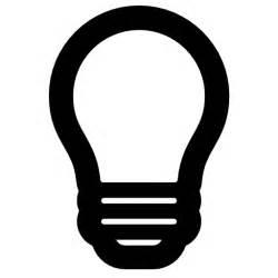 light bulb symbol free icons