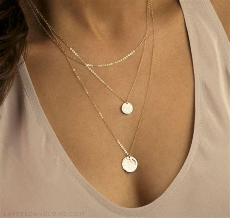 3 Layer Drop by Fashion Gold Plated Drop Hammered 3 Layer Chain Bar