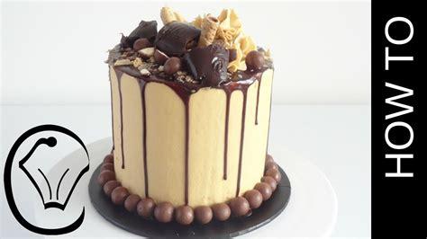 tall choc caramel drip cake  cupcake savvys kitchen youtube